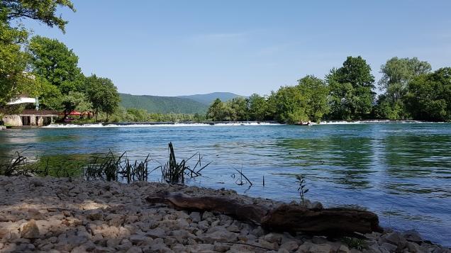 Fluss Una bei Bihac, Bosnien und Herzegowina